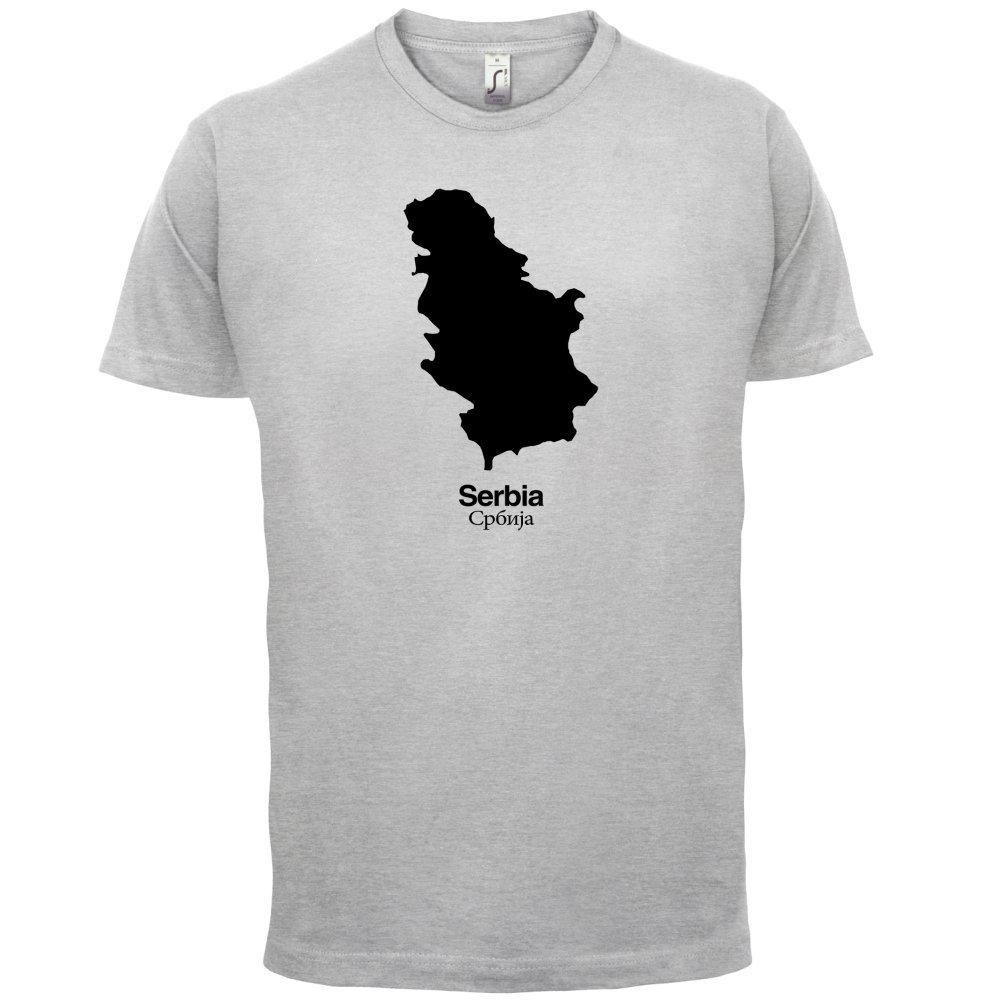 Serbia / Serbien Silhouette - Herren T-Shirt - 13 Farben: Amazon.de:  Bekleidung