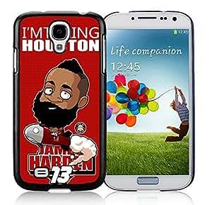 New Custom Design Cover Case For Samsung Galaxy S4 I9500 i337 M919 i545 r970 l720 Houston Rockets James Harden 1 Black Phone Case