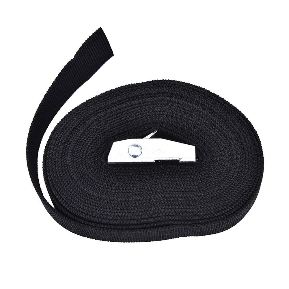 GEZICHTA arrimage Sangle en nylon Noir en nylon Cargo bagages Sac Lash Sangle de ceinture avec boucle en m/étal Cam 1/m//2/M//3/M//4/M
