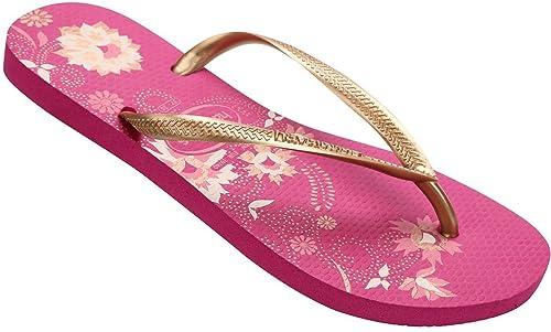 28eda0738457a6 Havaianas Slim Organic Pink Multi Womens Summer Flip Flops-40 ...