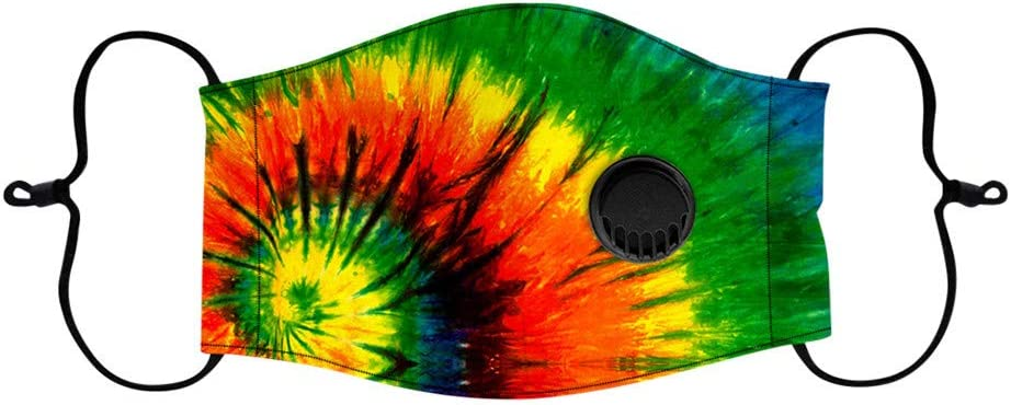 1PC Tie Dye Print Adjustable Reusable Washable Face Protective Cover Bandanas Childrens Cloth Mouth Covering for Boys Girls Outdoors Indoors Qanield Children Kids Face Covering