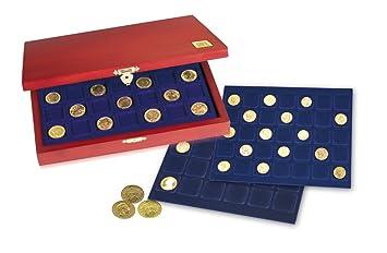Safe Holz Münzkassetten 60 X 10 Euromünzen In Münzkapseln Nr 5883