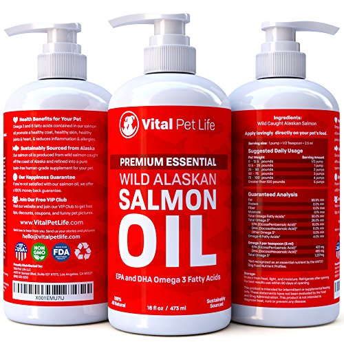 Salmon oil for dogs cats and horses fish oil omega 3 for Fish oil for dogs dry skin