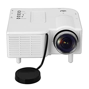 Excelvan GM40 - Mini Proyector LED LCD Portatil (Resolucion 320 x 240, Home Cinema, 400 Lumenes, 800:1, AV USB VGA HDMI SD, Conexion con PC Smartphone ...