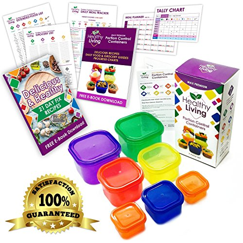 Healthy Living 7 Piece Portion Control Containers Kit