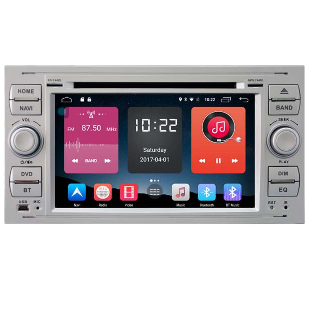 Autosion In Dash Android 6.0 Car DVD Player Sat Nav Radio Headunit GPS Navigation Stereo for Ford Focus Fiesta Fusion C-Max Galaxy Tourneo Transit Kuga Support Bluetooth SD USB Radio OBD WIFI DVR