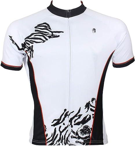 L.Z.HHZL Jerseys de equitación Traje de Ciclismo Traje Explosivo con patrón de Cebra Abstracto Camisa de Manga Corta for Hombre Bicicleta Jersey Jersey de Ciclismo: Amazon.es: Deportes y aire libre