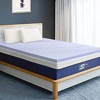 BedStory Viscoschaum Matratzentopper, hochwertige H2 Härtegrad Lavendelöl Matratzenauflage, Matratzenschoner für Matratze/Boxspringbett