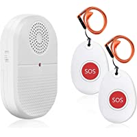 Wireless Caregiver Pager Call Button Personal Alarm Disability Pager Call Bell Elderly Home Nurse Vibration Alert System…