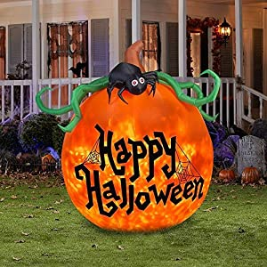 Projection Kaleidoscope Happy Halloween Pumpkin Outdoor Inflatable
