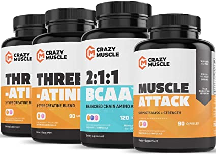 Amazon Com Beginner Bodybuilding Stack 4 Supplement Bundle By Crazy Muscle Kick Start Your Home Or Gym Workout Regimen Muscular Growth Stacks Bundles Can Be Used Preworkout Postworkout 390 Pills Pack