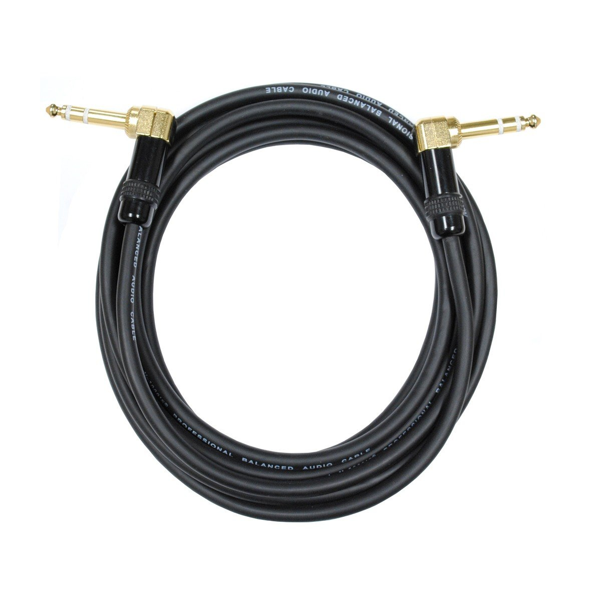 Audio2000's C25050 50 Ft 1/4'' TRS Right Angle to 1/4'' TRS Right Angle Cable by Audio2000's