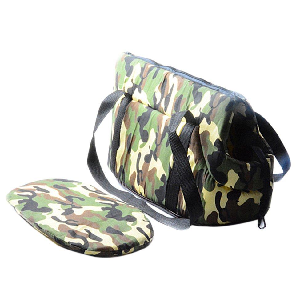 Camouflage Portable Pet KAYI Dog Bag Carrier Shoulder Bag Handbag Soft Outdoor Subway Must