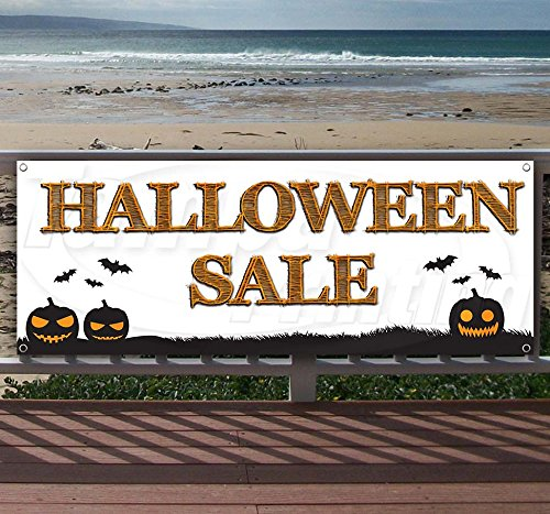 (HALLOWEEN SALE 13 oz heavy duty vinyl banner sign with metal grommets, new, store, advertising, flag, (many sizes)