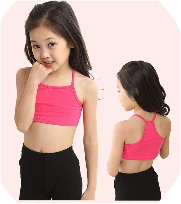 Amazon.com: alerghrg Girls Bra Cotton Vest of Tank Girls Underwear Candy  Color, Rose, 10: Clothing