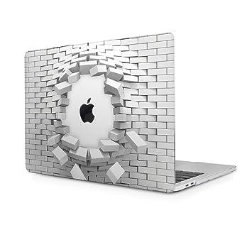 TwoL Carcasa MacBook 12 Retina, Plástico Funda Dura Carcasa para MacBook 12 plugadas Model:A1534 (Ladrillo Transparente)