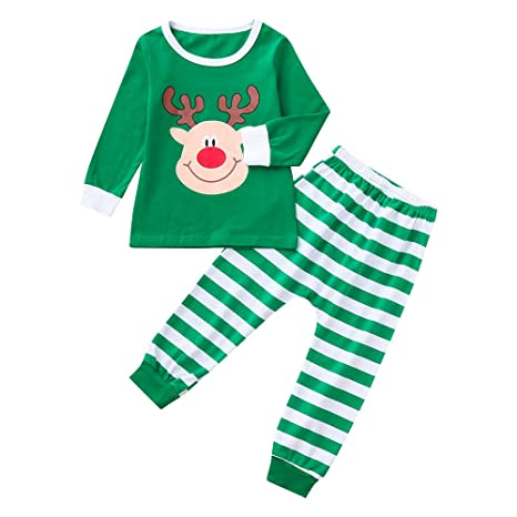 Chandal Niña Bebes Recien Nacidos Toddler Baby Brother & Sister Boy Tops Pantalones A Rayas Navidad
