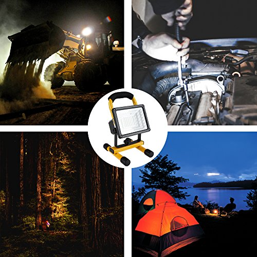 [30W 36LED]Lanfu Portable Waterproof LED Work Light Spotlights Outdoor Camping Fishing Car Repairing Lighting, Built-in Rechargeable Lithium Batteries (with 2 USB Ports and SOS Modes-IP65) by Lanfu (Image #5)
