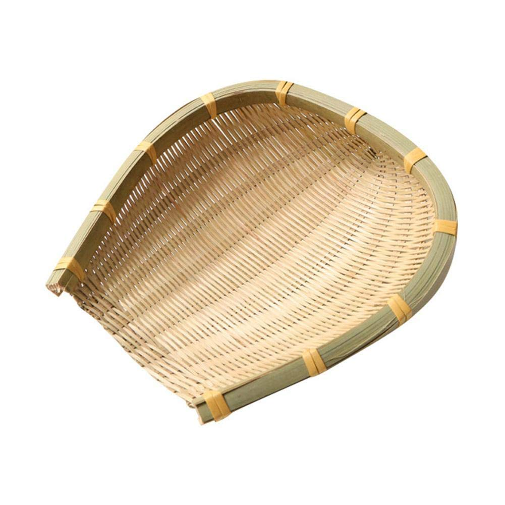 Little Fairy Fang Farmhouse Bamboo Weaving Basket Open Bamboo Sieve Hand-Woven Drying Bamboo Basket Fruit and Vegetable Storage