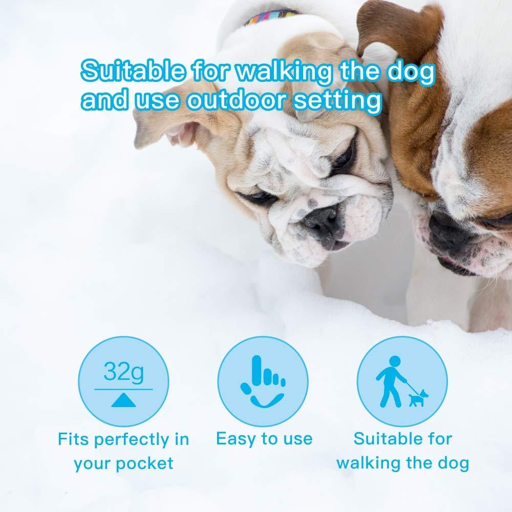 Weyio Handheld Dog Trainer Anti Barking Device Handheld ultrasonic Dog bark Deterrent with Wrist Strap Portable Dog Trainer with LED Indicator Light (Gray) by Weyio (Image #2)