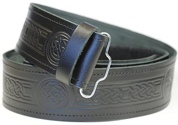 Macdonald Sporrans cinturón de kilt Céltico de piel para hombre ...