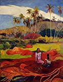Gauguin Paul Tahitian Women under the Palms 100% Hand Painted Oil Paintings Reproductions 12X16 Inch