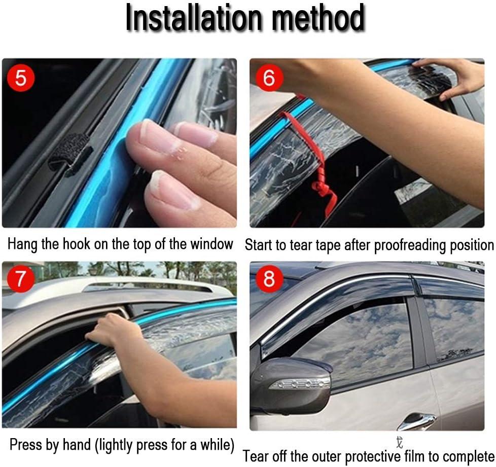 ,2000models YYD Car Wind Deflectors Set explosion protection V W Sharan Accessories 4 pieces