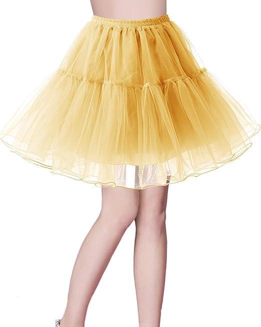 3432c0c11 Bridesmay Enaguas Años 50 Vintage para Vestidos Faldas Cortas De Tul Mujer  Cancan Tutu Rockabilly