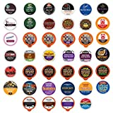 Coffee Pod Variety Pack, Dark Roast and Bold Flavors, Single Serve Cups for Keurig K-Cup Machines - Robust Assortment with No Duplicates, 40 Count - Great Coffee Gift