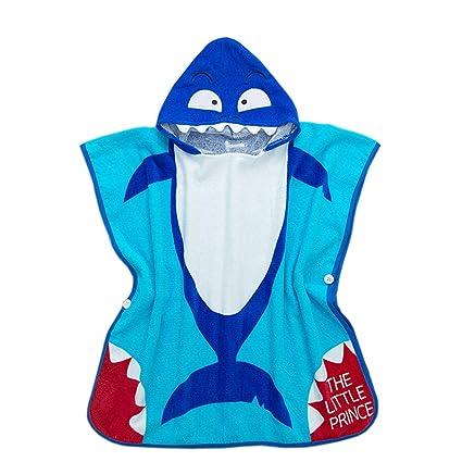 100% algodón Niños con Capucha Poncho toalla toalla de baño para niños y niñas de