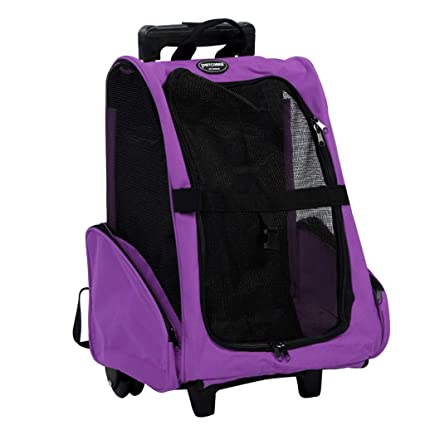 99bcbd8c4ee1 Amazon.com : Pet Carrier Travel Backpack Rolling Duffel Bag with ...