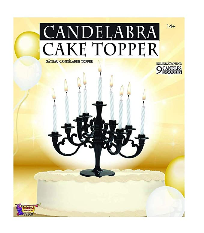 Amazon Faerynicethings Black Candelabra Cake Topper