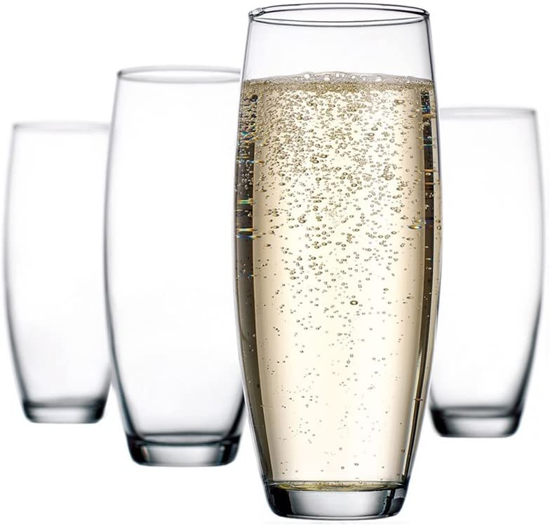 Home Essentials - Stemless Champagne Flute - 10 Ounce - Set of 4