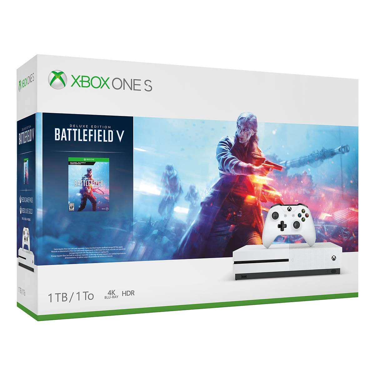 Xbox One S 1TB Console - Battlefield V Bundle (Renewed) by Microsoft (Image #1)