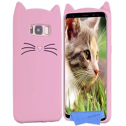 HopMore Gato Funda para Samsung Galaxy S8 Plus Silicona Motivo 3D Divertidas TPU Gel Dibujo Kawaii Carcasa Samsung S8 Plus Ultrafina Slim Case ...