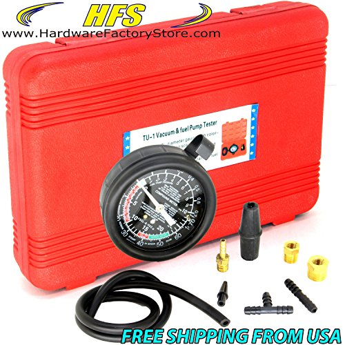 HFS (Tm) Carburetor Carb Valve Fuel Pump Pressure & Vacuum Tester Gauge Test Kit