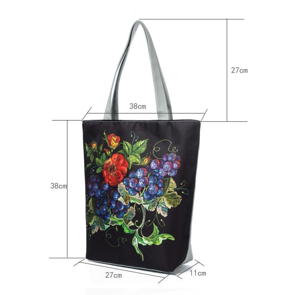 adc08310a9b9 Women's Canvas Tote, National Wind Print Canvas Tote Casual Beach Bags  Women Shopping Bag Handbags Cell Phone Pocket