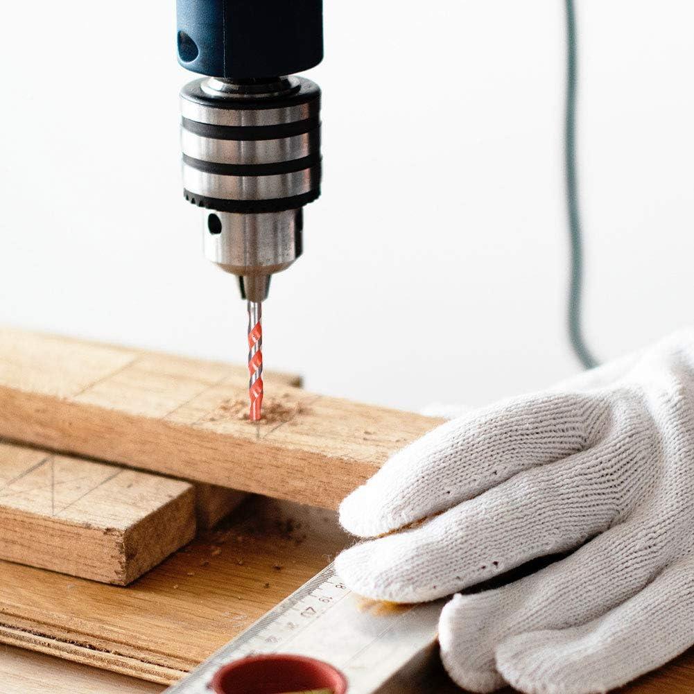 Masonry Drill Bits Set of 5 Extreme Masonry Drill Bit Construction Multi-Purpose Drill bit Universal Masonry Drill Bit with Diameter 6mm,8mm,10mm,12mm,6mm