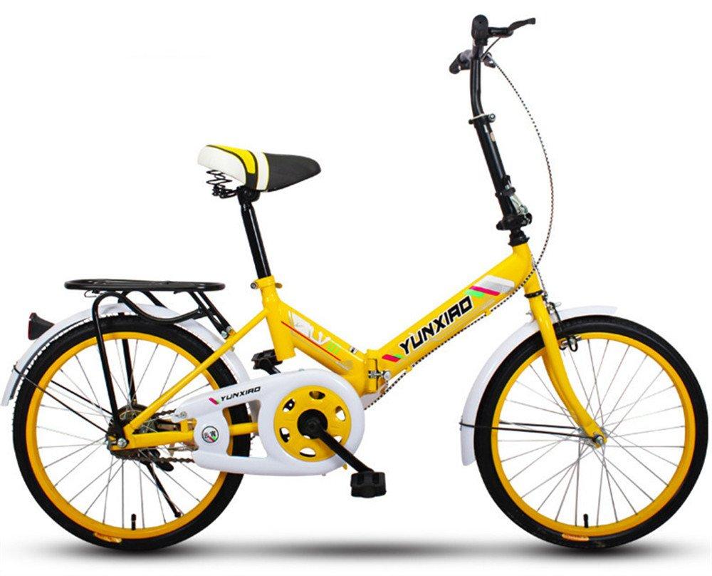 折りたたみ自転車 折り畳み 16インチ 20インチ 変速自転車 単速  変速 通勤 通学 小型 小径 簡単収納 B07BTVTN12 20インチ単速|J J 20インチ単速
