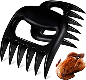Bateconli Bear Claw Meat Separator - Shredding Handling & BBQ Meat Forks - Paws for Pulling Brisket from Grill Smoker or Slow Cooker - Shredding Handling & Carving