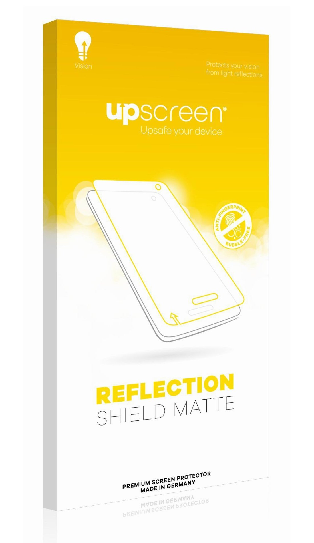 upscreen Reflection Shield Matte Screen Protector for GoClever Chronos Connect 2, Matte and Anti-Glare, Strong Scratch Protection, Multitouch optimized