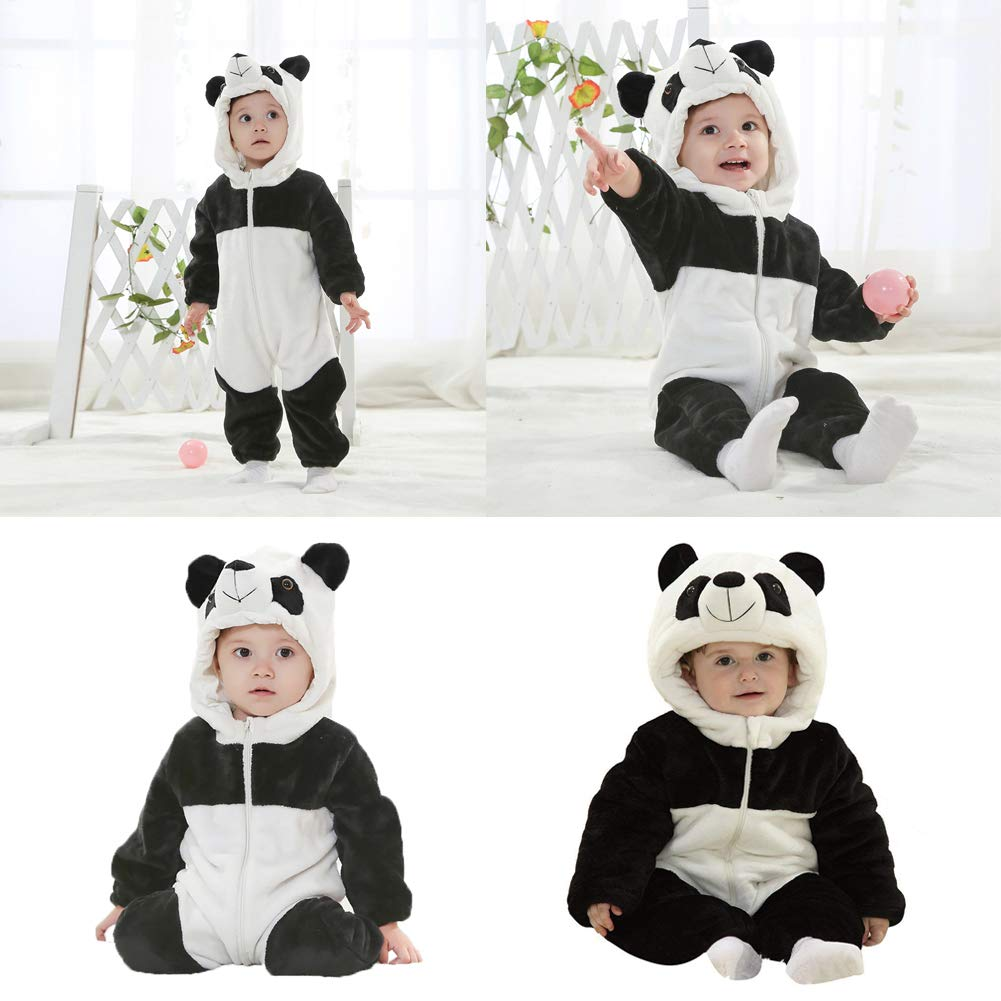 Unisexo Beb/é Pelele Reci/én Nacido Franela Monos Traje Animales Disfraz Infantil Mameluco Invierno Ropa Ni/ños Ni/ñas Pijama