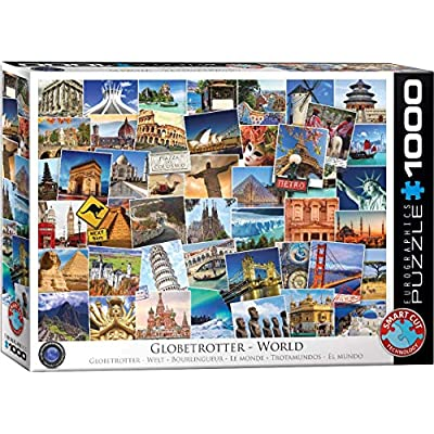 EuroGraphics World Globetrotter Jigsaw Puzzle (1000 Piece): Toys & Games
