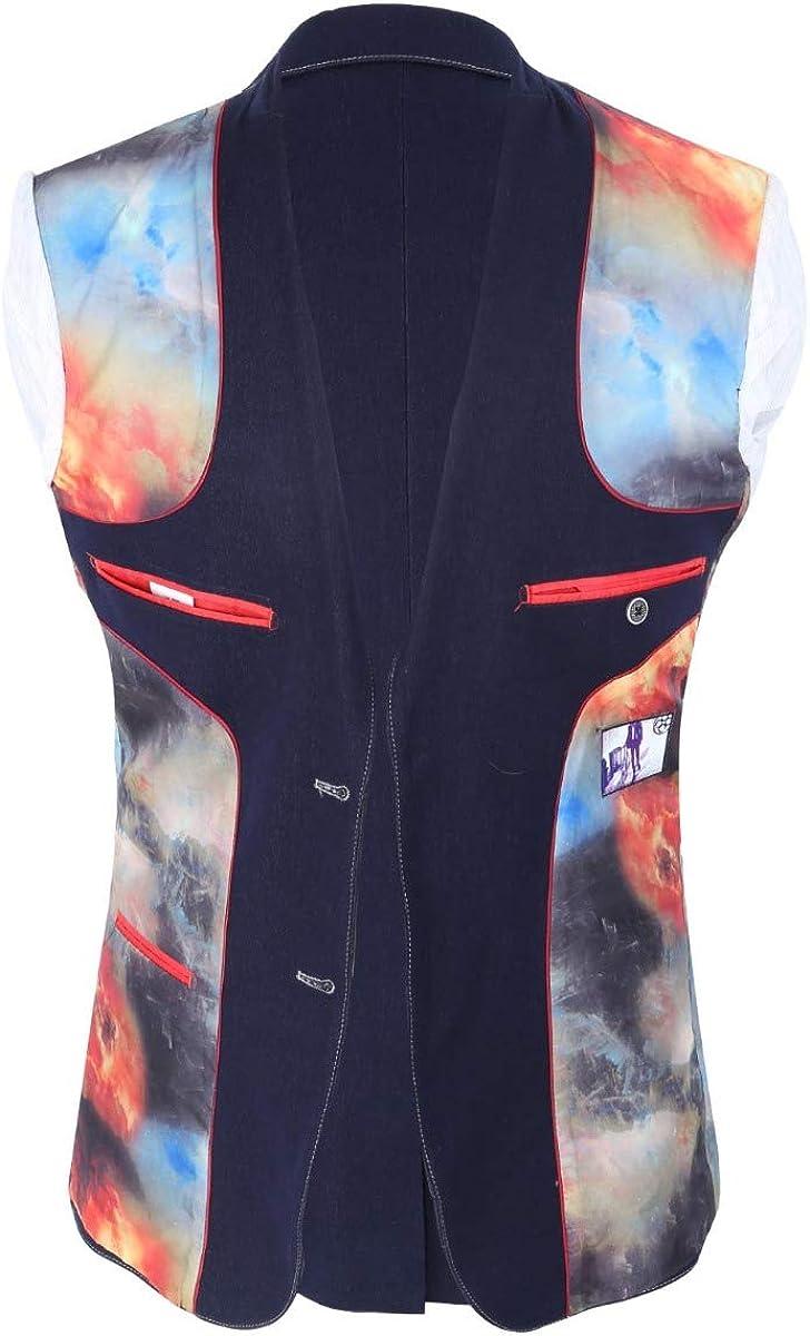 SIRRI Robe de Designer pour Homme et gar/çon Assortie en Jean Stretch Bleu Marine