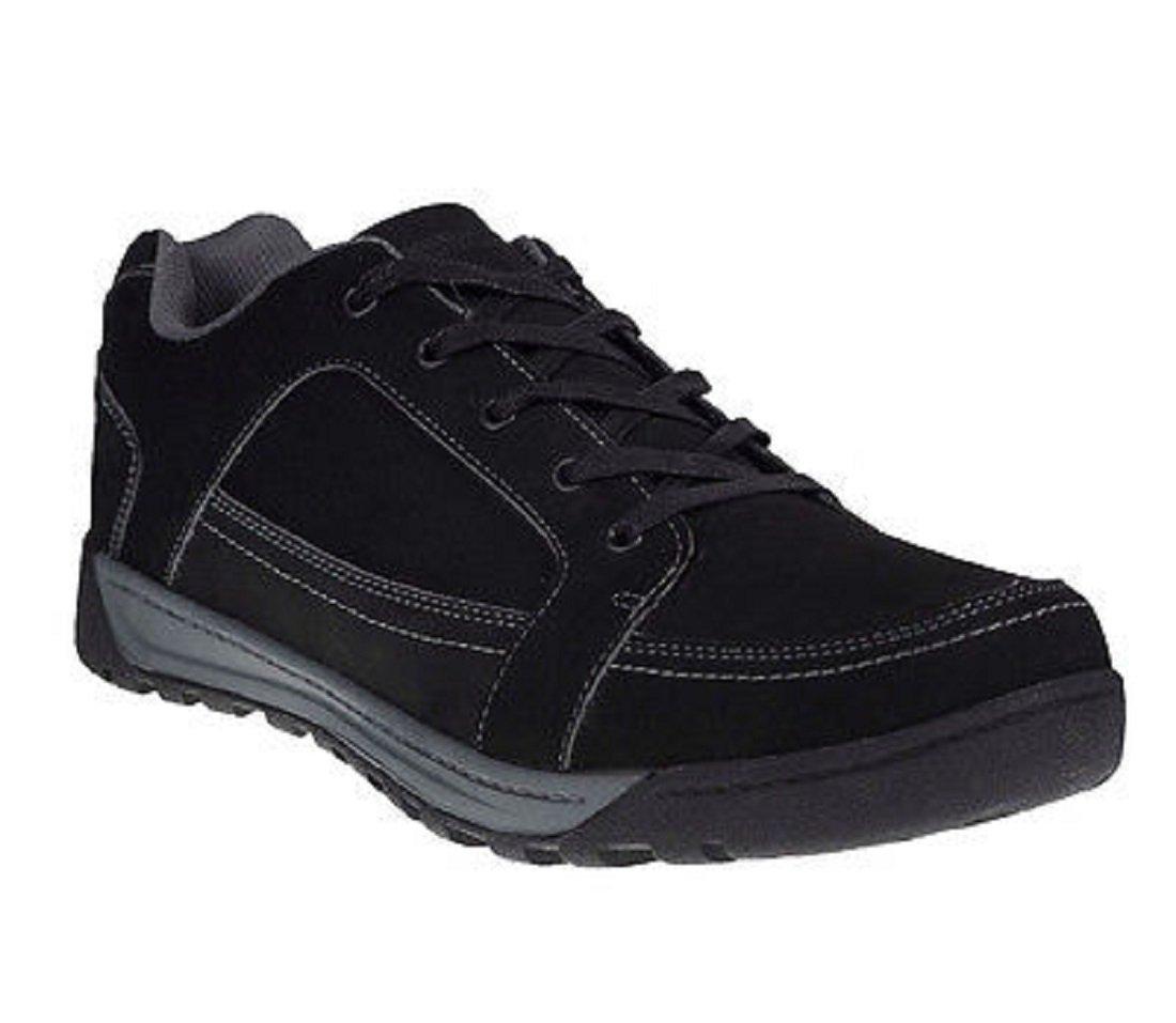 Regatta Mens Stanly Low Waterproof Nubuck Leather Casual Walking Shoes  UK Size 9.5 (EU 44)|Black