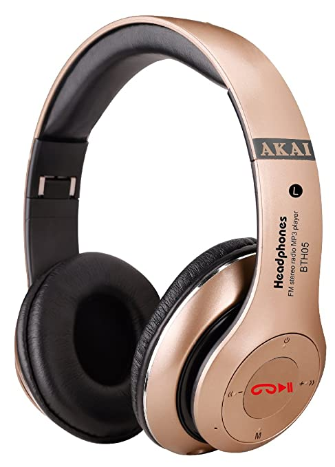 Akai BTH05 Cuffie Senza Filo Bluetooth Design ergonomico  Amazon.it ... 6cf87747d507
