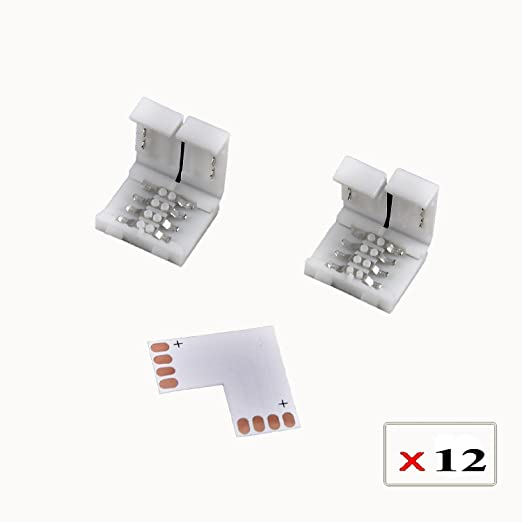 LED RGB Strip Eckverbinder Schnellverbinder Steckverbinder L Verbinder 5050