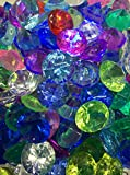 SunRise 480+ Pieces Multi-Colored Acrylic Diamond Shape Pirate Treasure Jewels for Party Decoration,Event,Wedding, Vase Fillers, Arts & Crafts