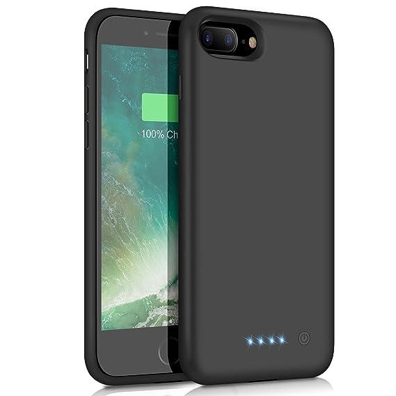 promo code e8af7 ec75e Battery Case for iPhone 8 Plus/7 Plus 8500mAh, Yacikos Portable Charging  Case Rechargeable Extended Battery Pack for iPhone 8 Plus/7 Plus (5.5') ...
