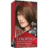 Revlon Colorsilk Beautiful Color, Permanent Hair Dye with Keratin, 100% Gray Coverage, Ammonia Free, 41 Medium Brown